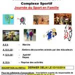 Tract Journée du sport 2014