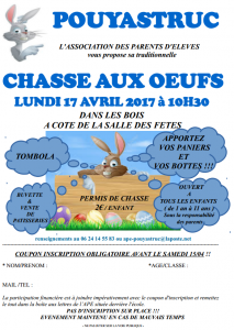 chasse aux oeufs 2017